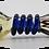 Thumbnail: Blue Spiral Glass Bowl
