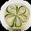 Thumbnail: Green and White Flower Glass Bowl