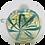 Thumbnail: Aqua Twirl Glass Bowl
