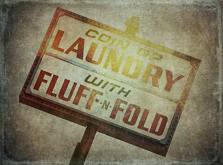 Fluff & Fold Sign