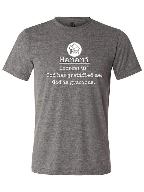 Hanani - God is gracious T-Shirt