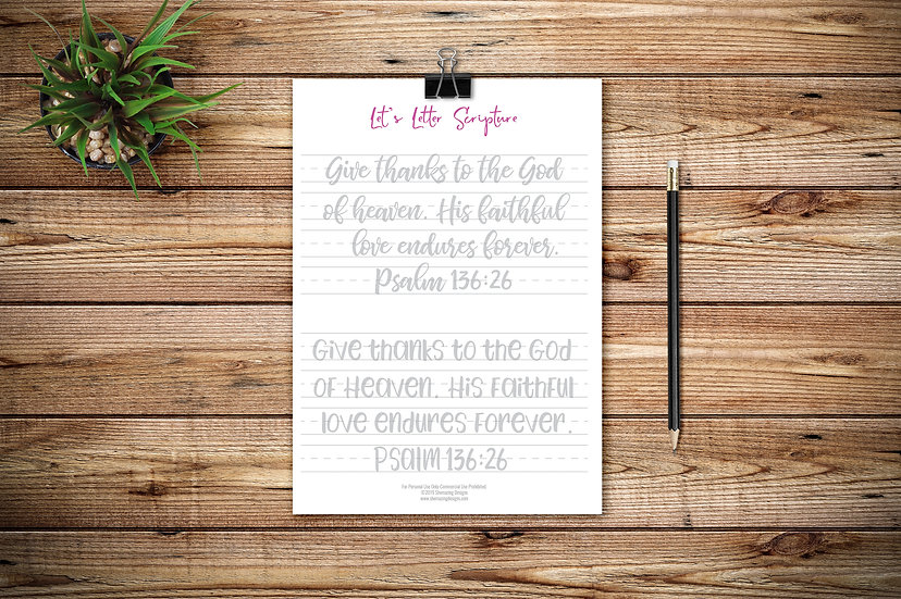 Let's Letter Scripture No.4