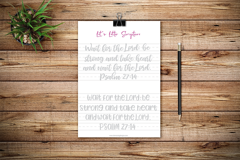 Let's Letter Scripture No. 2