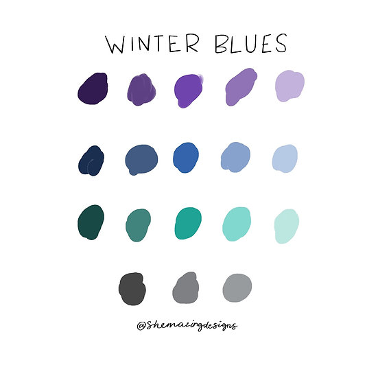 Winter Blues Procreate Swatches