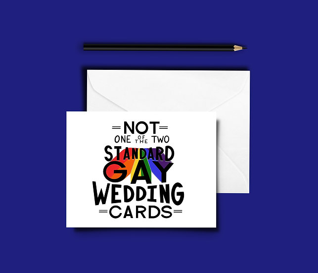 Not One of the Two Standard Gay Wedding Cards - Wedding Card