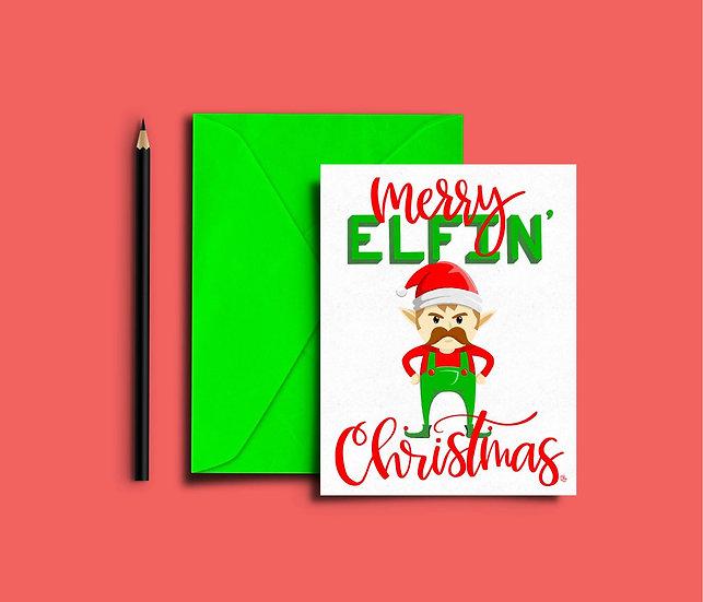 Merry Elfin' Christmas - Christmas Card