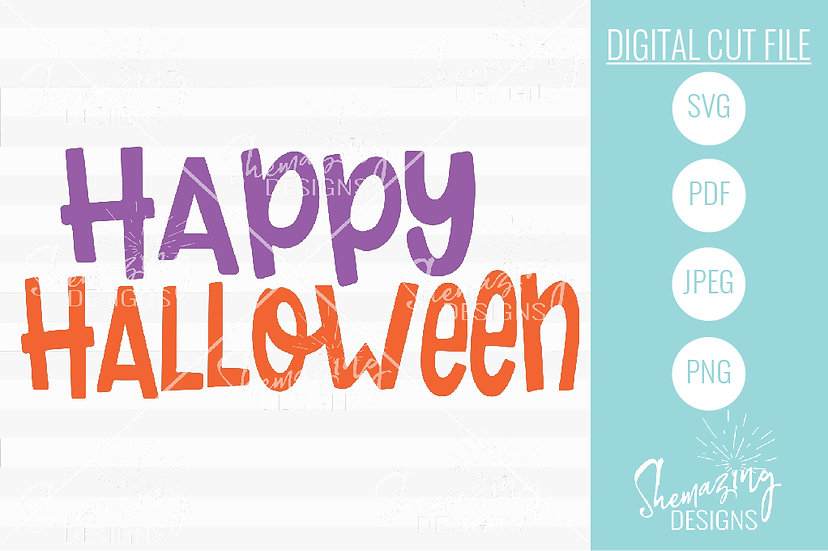 Happy Halloween - Digital Cut & Print File