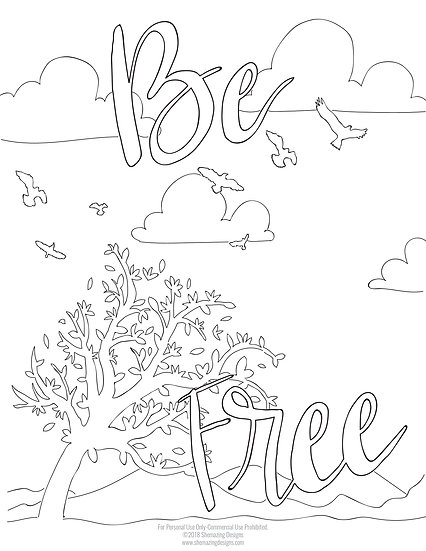 Be Free Coloring Page