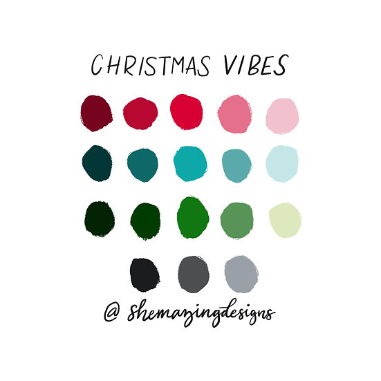 Christmas Vibes Procreate Swatches