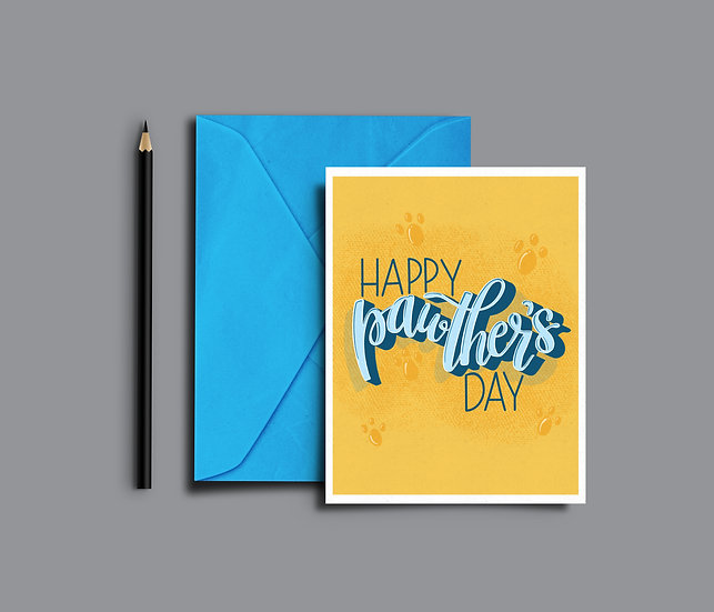 Happy Pawther's Day - Dog/Cat Dad - Father's Day Card