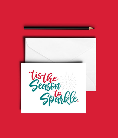 'Tis the Season - Christmas Card (Single or Set of 6)