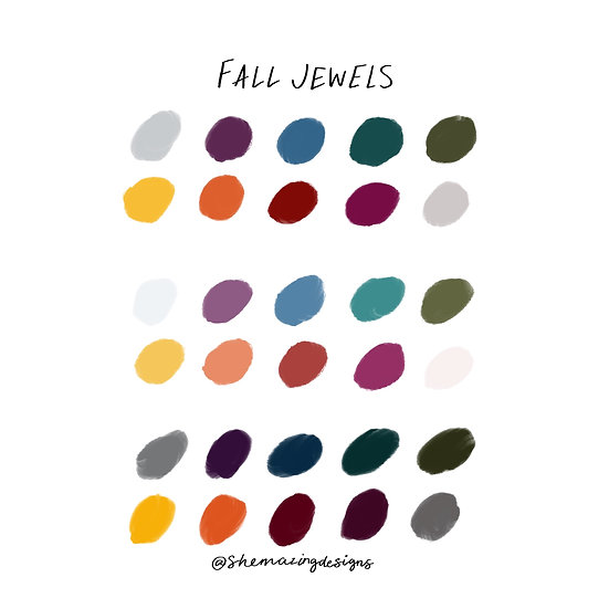 Fall Jewels Procreate Swatches