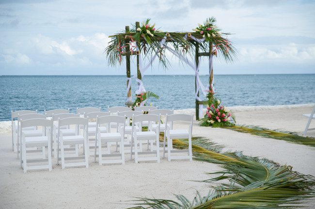 Wedding arch on our private beach
