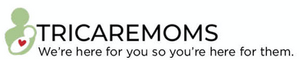 TricareMoms logo with the words we're here for you so you're here for them.