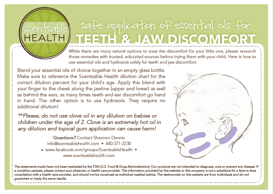 Scentsable Health Safe Teeth and Jaw card