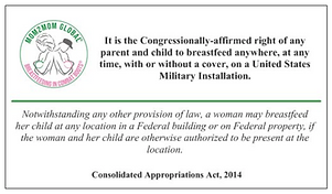Breastfeeding Federal Law Wallet Cards
