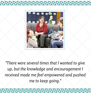 photo of breastfeeding support group with quote