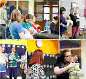 Breastfeeding Cafe montage, photo courtesy of Gerelynn Trial Photography