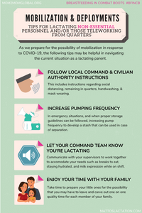 Info-graphic with tips for non-essential/working from home DOD personnel