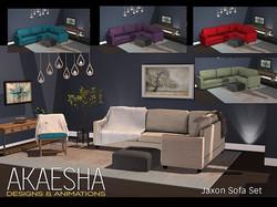 Jaxon Living Room Sofa Set