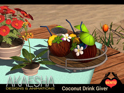 Party Coconut Drink Tray
