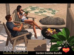 patio garden gazebo bundle