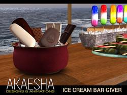 Ice cream bar giver