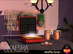 Waffle Maker & Syrup Bundle Breakfast