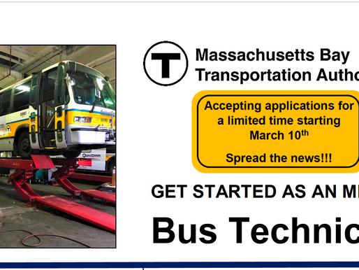 Get started as an MBTA Bus Technician!