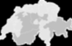 Schweizer Karte Alles fahrt Schii