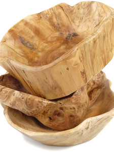 Wooden Fruit Salad Serving Bowl Hand-Car