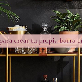 11 ideas para crear tu propia barra en la casa.