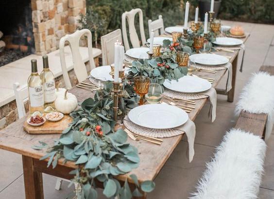 Ideas para la mesa de Acción de Gracias
