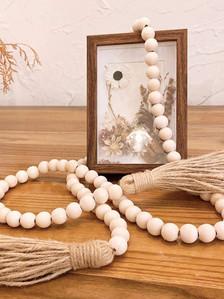 Farmhouse Beads 58in Wood Bead Garland w