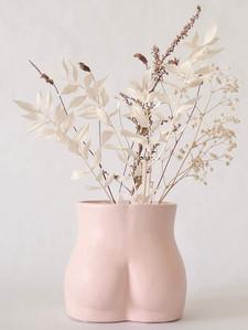 Female Form Body Flower Vase, Ceramic Va
