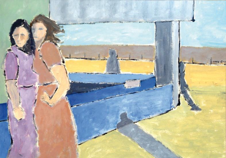 Figures, 2005, oil pastels on paper, 70x50 cm