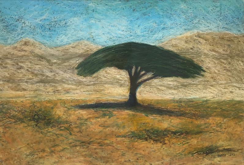 Shivta, 2014, oil pastels on paper, 35x50 cm