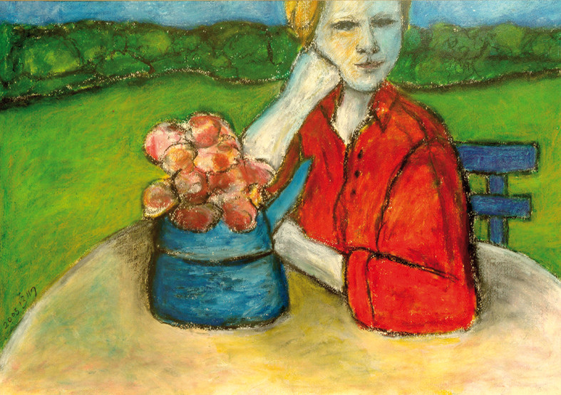 Marijke, 2005, acrylic on paper, 70x50 cm