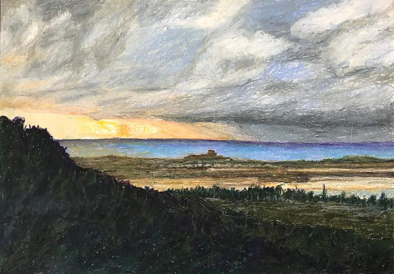 Ein Hod 2016, oil pastels on paper, 50x35 cm