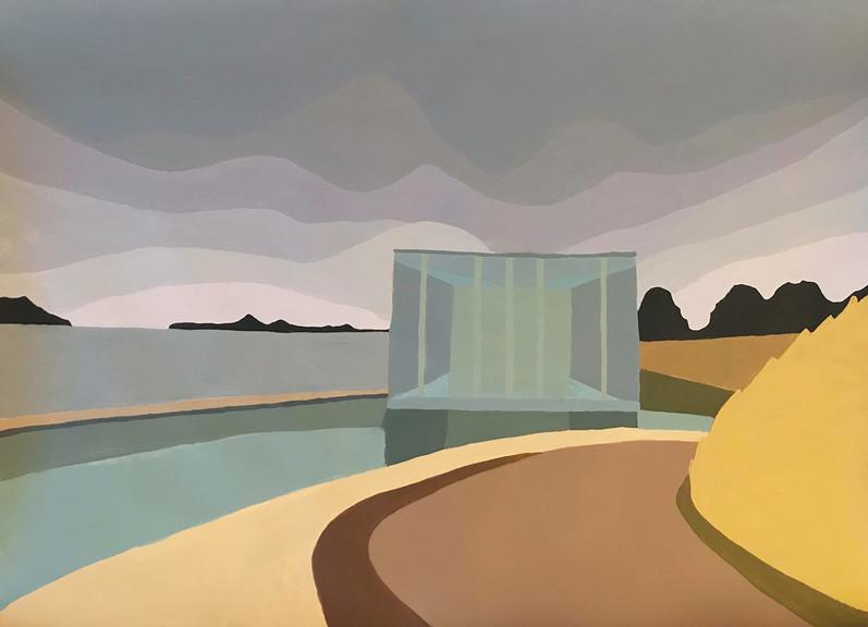 Neuss, 2017, acrylic on paper, 60x80 cm