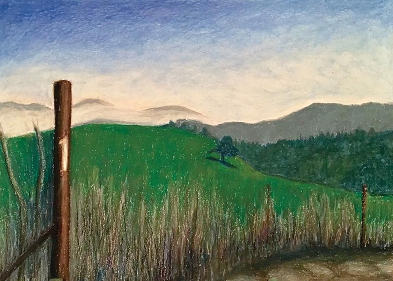 Mishmar Haemek, 2016, oil pastels on paper, 50x70 cm
