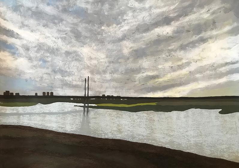 Dusseldorf 5, 2017, acrylic & oil pastels on paper, 50x70 cm