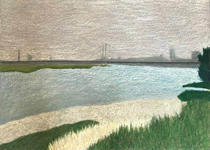 Dusseldorf 2, 2017, acrylic on paper, 50x70 cm