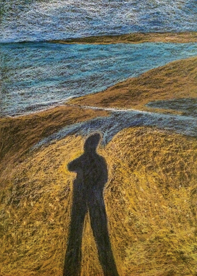 My Shadow & Me 1, 2014, oil pastels on paper,35x50 cm