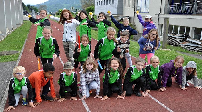 Le groupe athlétisme au complet