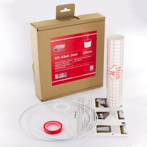 Kit de fabrication d'abat-jour cylindre diam 20cm