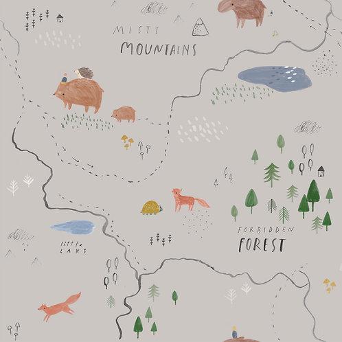 Tissus Softshell - Mountains x10cm