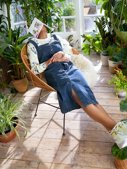 White Stuff - Robe Farrow Pinafore Denim Dress