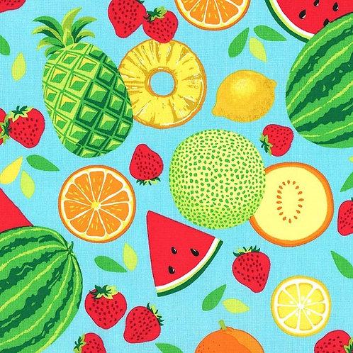 Tissu Popeline Michael Miller Fruit Toss x10 cm