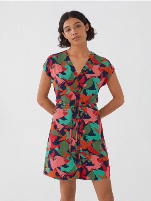 Robe courte motif Camopeace